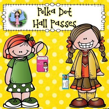 Polka Dot Hall Passes (EDITABLE!)