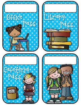 Polka Dot Hall Passes (EDITABLE!)