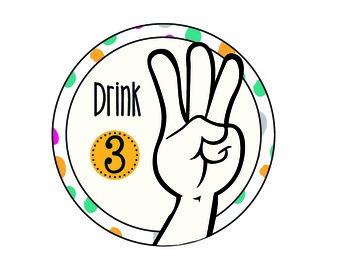 Polka Dot Hand Signal Signs