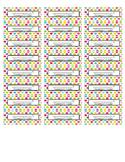 Polka Dot Homework Folder Label