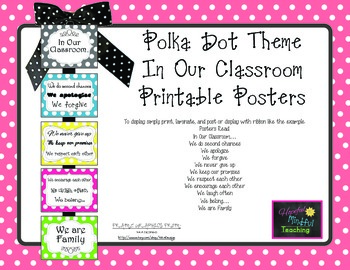 "Polka Dot ""In Our Classroom"" Display Posters"