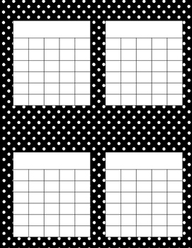 Polka Dot Incentive Charts- Set of 10