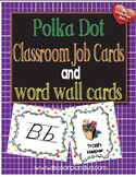 Classroom Job Cards and Word Wall Cards -Multi