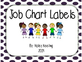 Polka Dot Job Chart Labels