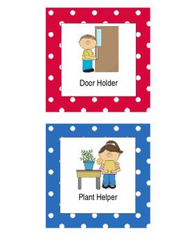 Polka Dot Job Helper Chart (Editable)