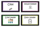Polka Dot Job Labels with image
