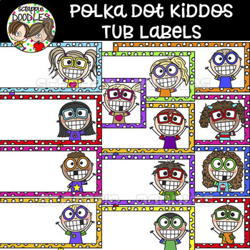 Polka Dot Kiddos Tub Labels