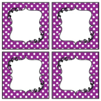 Polka Dot Sign, Pennant and Label Kit - Editable!