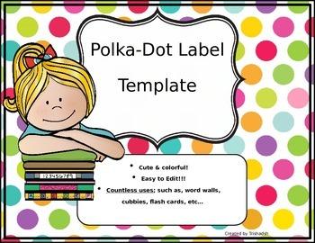 Polka-Dot Label Template