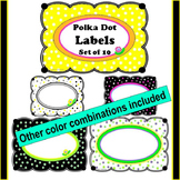 Polka Dot Labels
