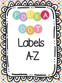 Polka Dot Labels A-Z