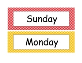 Polka Dot Labels (Days, Months, Seasons, Schedule Cards)