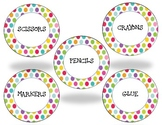 Polka Dot Labels and Teacher Toolkit Label
