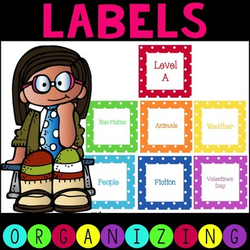 Polka Dot Labels for Classroom Library
