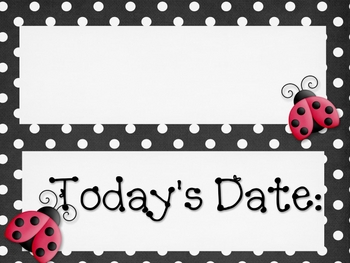 Polka Dot & Ladybug Calendar Set