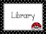 Polka-Dot Ladybug Pre-K Learning Center Signs