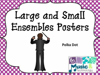 Polka Dot Large and Small Ensemble Posters