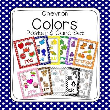 Polka Dot Learn My Colors Poster Set