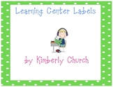Polka Dot Learning Center Labels