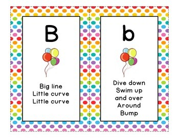 Letter Formation Cards for Handwriting Without Tears - Polka Dot Background