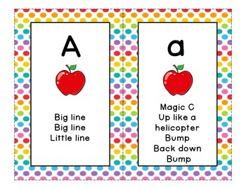Letter Formation Cards for Handwriting Without Tears - Pol