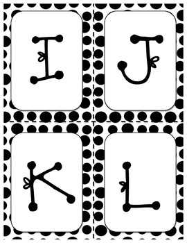 Polka Dot Letters, Numbers, and Symbols