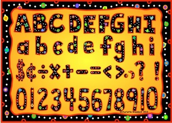 Polka Dot Letters and Numbers Clip Art Set