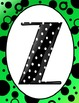 Polka Dot Letters and Numbers Rainbow Colors