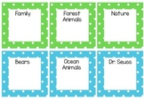 Polka Dot Library Labels