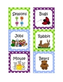 Polka Dot Library Labels K-2