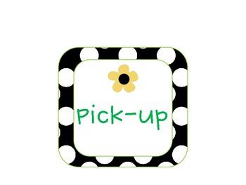 Polka Dot Lime Daisy Dismissal Clip Chart