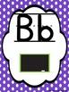 Polka Dot (Lined Print) Alphabet Cards
