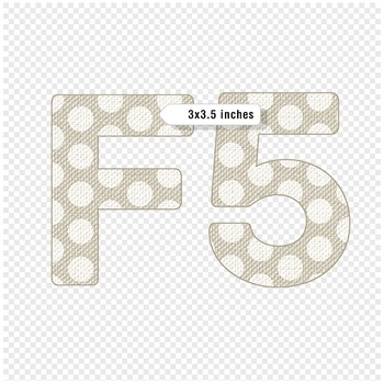 Polka Dot Linen Digital Alphabet - F00008
