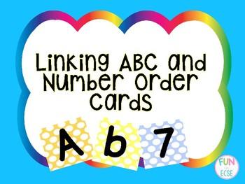 Polka Dot Links (ABC and Numbers) Freebie