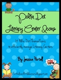 Polka Dot Literacy Center Icons: Organizational Tool