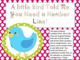 Polka Dot Little Bird Number Line Decor -20 to 120