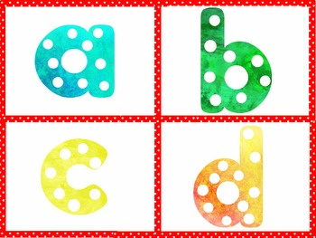 Polka Dot Lowercase Letters for Teacher Materials & Classroom