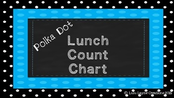 Polka Dot Lunch Count Chart