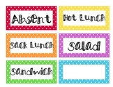 Polka Dot Lunch Count Labels