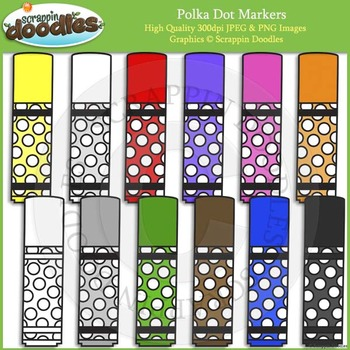 Polka Dot Markers FREEBIE :)