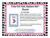 Polka Dot Math Alphabet