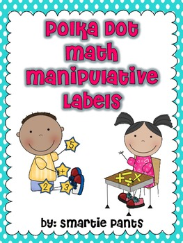 Polka Dot Math Manipulative Labels