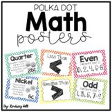 Polka Dot Math Posters