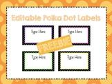 Editable Polka Dot Labels