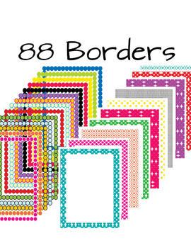 Polka Dot Mega Pack- 88 Borders