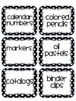 Polka Dot Mega Pack ( Over 170 Classroom Labels)