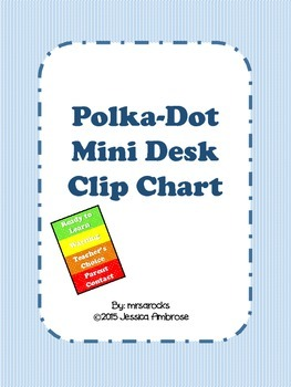 Polka Dot Mini Clip Chart