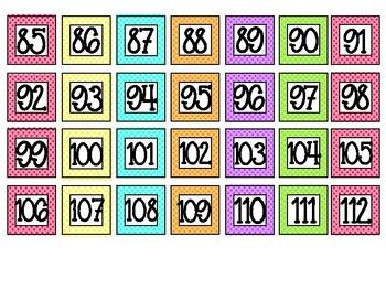Polka Dot Mini Numbers 1 - 180