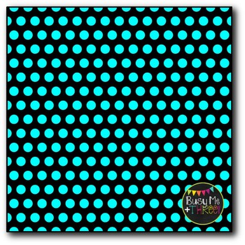 Polka Dot Mix on Black Digital Papers {Commercial Use Digital Graphics}