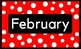 Polka Dot Month's of the Year Labels